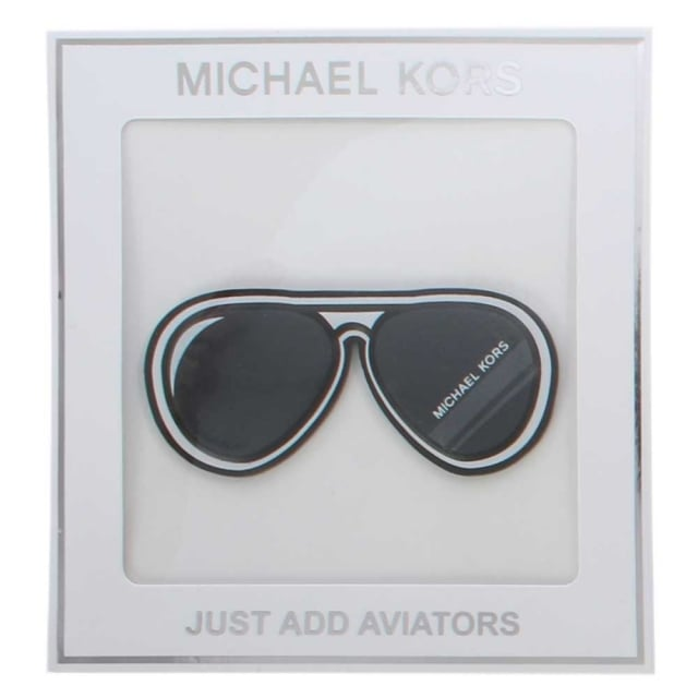 Michael Kors Just Aviators Black Leather Bag Sticker