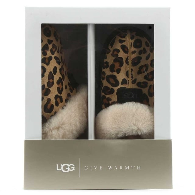 UGG Scuffette II Leopard Calf Hair Slipper