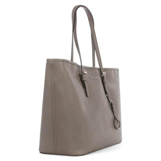 Michael Kors Jet Set Multifunctional Cinder Leather Top Zip Tote