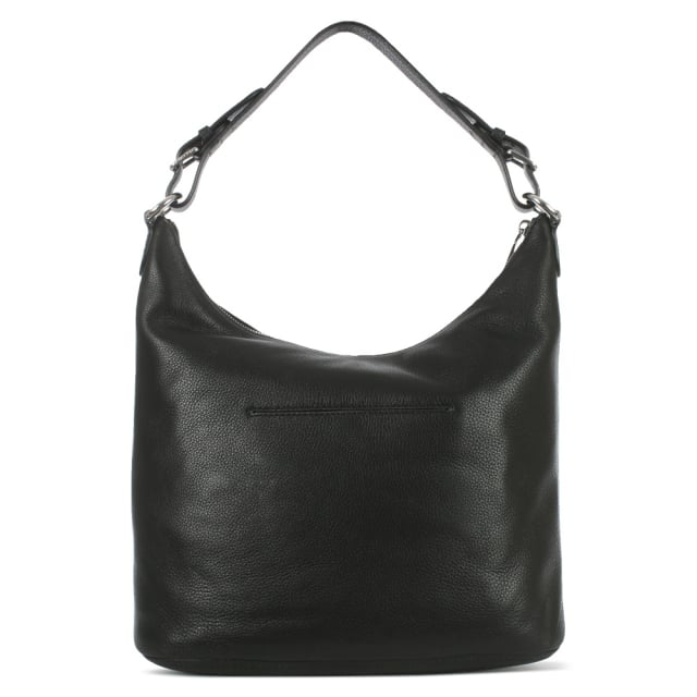 Michael Kors Lupita Large Black Leather Hobo Bag
