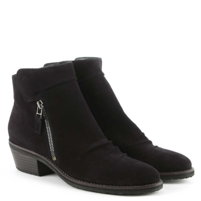 Kennel & Schmenger Monkwell Navy Suede Heeled Ankle Boot