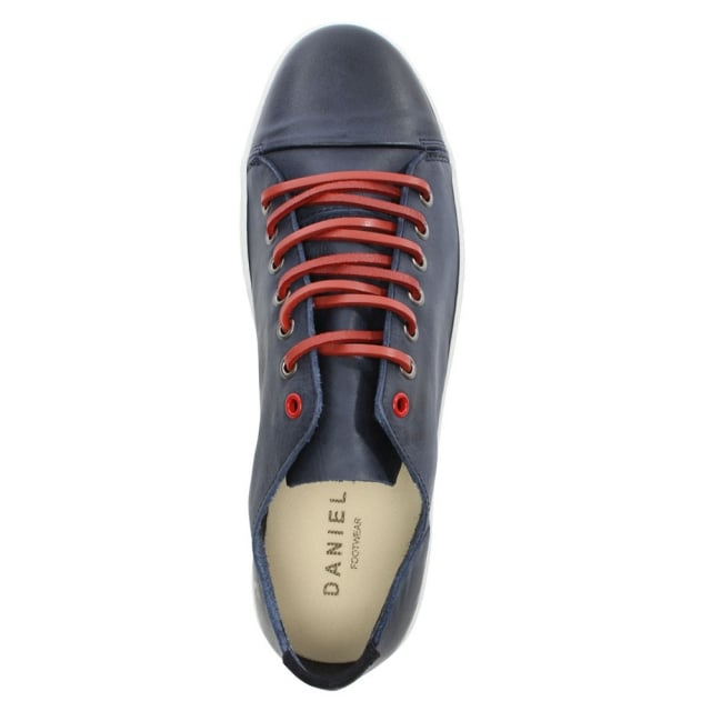Daniel Oakdale Navy Leather Lace Up Pump
