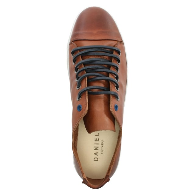 Daniel Oakdale Tan Leather Lace Up Pump