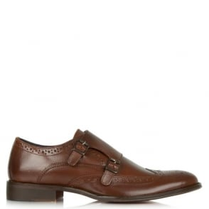 Daniel Gucinari Jay Jay 276 Tan Leather Brogue Monk Shoe