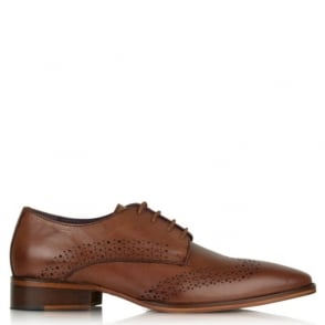 Daniel Gucinari Jay Jay 274 Tan Leather Hole Punch Lace Up Shoe