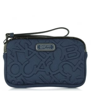 Marc By Marc Jacobs Scrambled Neoprene Logo Universal Navy Wrist-Let Case