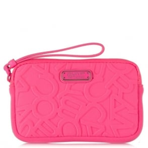 Marc By Marc Jacobs Scrambled Neoprene Logo Universal Pink Wrist-Let Case