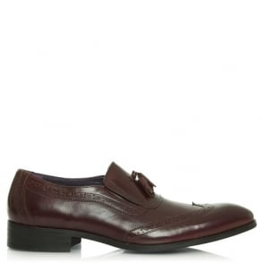 Daniel Jay Jay 286 Burgundy Leather Loafers