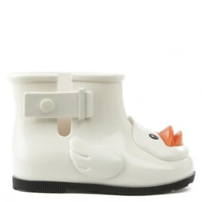 Melissa Mini Rain Duck White Wellington Boot