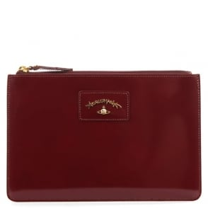 Vivienne Westwood Anglomania Newcastle Burgundy Leather Pouch