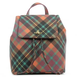 Vivienne Westwood Derby Tartan Multicoloured Leather Backpack