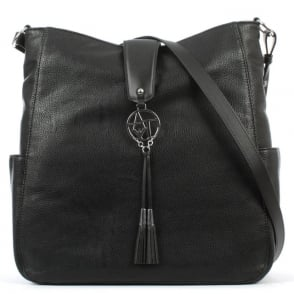 Armani Jeans Vachetta Black Shoulder Bag