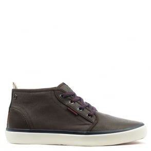 Jack & Jones Major Brown Contrast High Top Trainer
