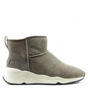 Ash Miko Topo Suede Faux Fur Lined Ankle Boot