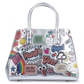 Anya Hindmarch Ebury Small Silver All Over Wink Bag