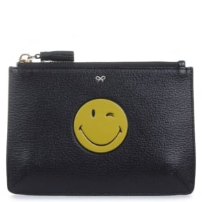 Anya Hindmarch Black Wink Loose Pocket Purse