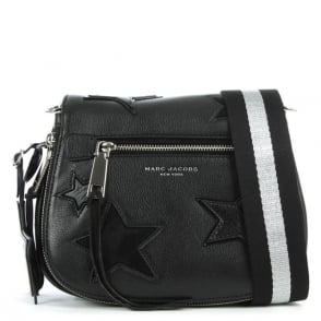Marc Jacobs Star Patch Black Leather Saddle Bag