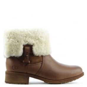 UGG Chyler Demitasse Leather Cuffed Ankle Boot