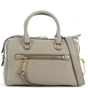 Marc Jacobs Recruit Small Bauletto Taupe Leather Bowler Bag