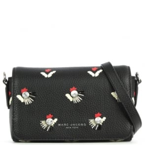 Marc Jacobs Tulip Black Leather Cross-Body Bag
