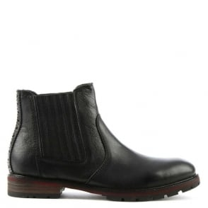 Daniel Silvestri Black Leather Chelsea Boot