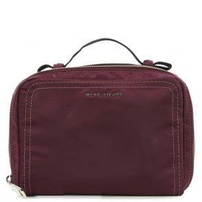 Marc Jacobs Easy Burgundy XL Cosmetic Case