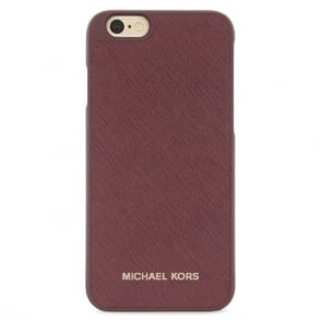 Michael Kors Electronics Plum Leather iPhone 6/6s Case