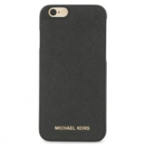 Michael Kors Electronics Black Leather iPhone 6/6s Case