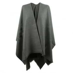 Daniel Luxe Grey Wool & Silk Mix Cape
