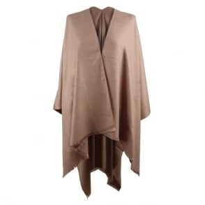 Daniel Luxe Pink Wool & Silk Mix Cape
