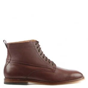 Hudson Men's Forge Brown Leather Lace Up Ankle Boot