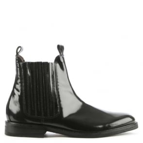 Hudson Tafler Black Leather Chelsea Boot