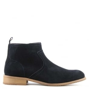 Gucinari Navy Suede Ankle Boot