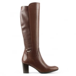 Tan Leather Knee High Boot