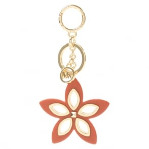 Michael Kors Floral Grommet Orange Keyring