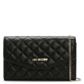 Love Moschino Bintang Black Quilted Chain Shoulder Bag