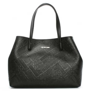 Love Moschino Bukit Black Logo Shopper Bag