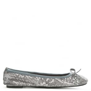 Scholl Sequins Silver Foldable Pocket Ballerina