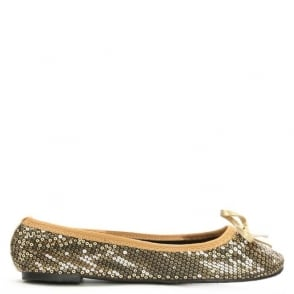Scholl Sequins Gold Foldable Pocket Ballerina
