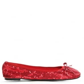 Scholl Sequins Red Foldable Pocket Ballerina