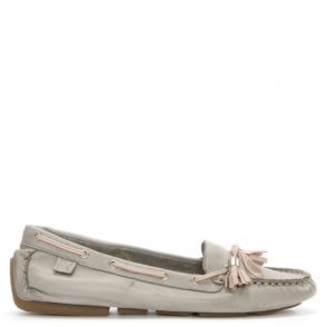 Moda In Pelle Alivia Grey Leather Moccasin