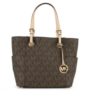 Michael Kors Jet Set Logo Brown Tote Bag