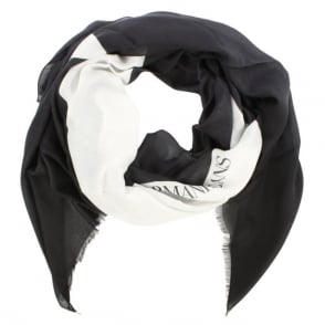 Armani Jeans Black & White Giant Star Scarf