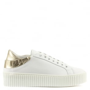 Daniel Frillsy White Leather Flatform Trainer
