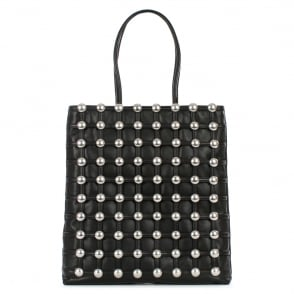 Alexander Wang Dome Studded Black Leather Shopper