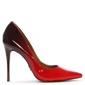 Moda In Pelle Cristina Ombre Red Patent Court Shoe