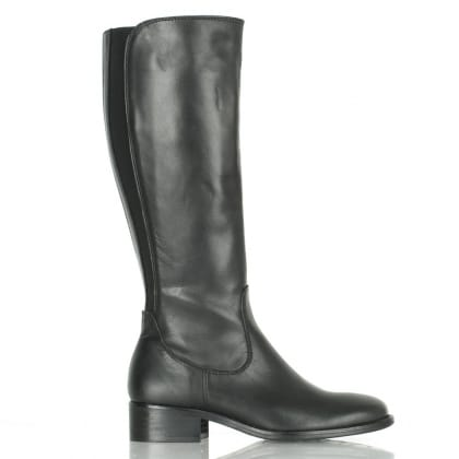 Daniel Black Leather Sefton Knee Boot