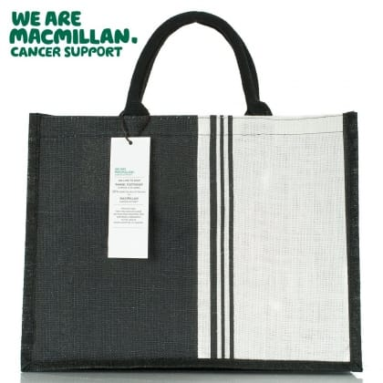 Black and White Macmillan Charity Bag For Life