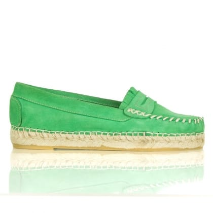 Daniel Pimini Green Suede Women's Moccasin Loafer Pump