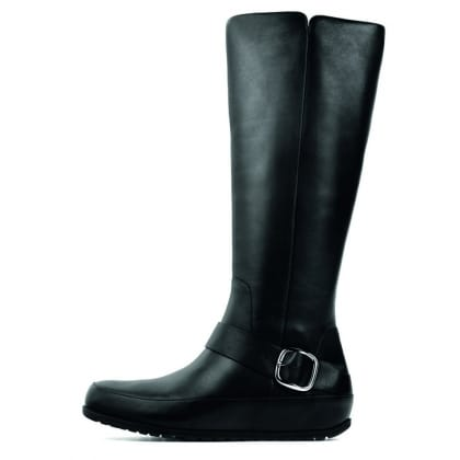 The FF2™ by FitFlop™ Collection Duéboot™ Tall/Buckle Black Leather Women's Boot